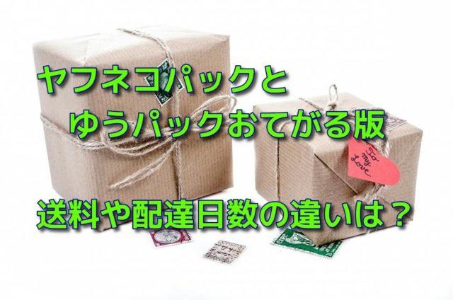 ヤフネコパックとゆうパック・ゆうパケットおてがる版の送料や配達日数の違いは?